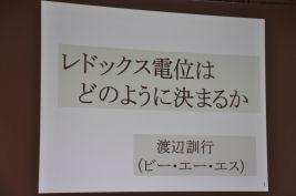 BASセミナー2010 第1回「電気化学計測の基礎」 元東京大学工学部 助教授 渡辺 訓行 先生