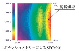 SECM image by potentiometry