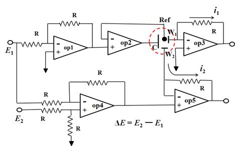 オペアンプを使ったバイポテンショスタットの構成