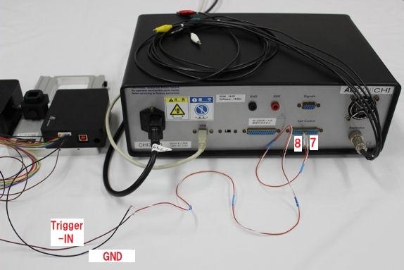 図7:SEC2020とモデル760Dの接続