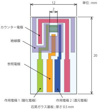 くし形電極の寸法