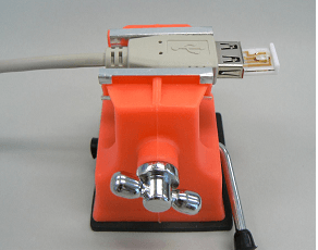 Fig.2 ケーブルキットに設定した3 μmくし形電極