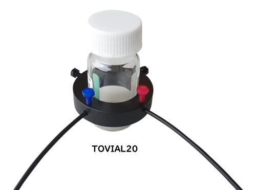 酸素/温度センサー付きバイアル